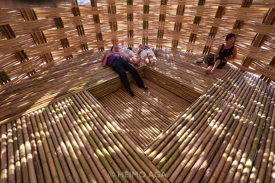 Linz, Austria. H&Ouml;HENRAUSCH.3<br /> Die Kunst der T&uuml;rme (The Art of Towers)<br /> Wen-Chih Wang<br /> Bamboo Cupula (Bambus-Kuppel), 2013