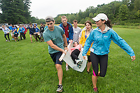From left, John McLaren, Christopher Meserve, Joseph Miller, Jacqueline Wade, Sierra Trejos, Danielle Leahy. Outdoor team building activities. Wilderness medicine.