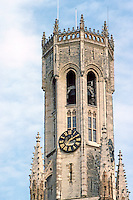 Bruges: Belfry of Halles.  Photo '87.