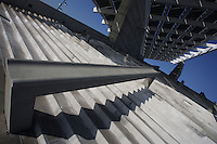 Photovoltaic Plant (10,500 square meters capturing solar energy for the electric public utility system), Forum Esplanade, Barcelona, Catalonia, Spain; 2004; José Antonio Martinez Lapeña (Tarragona, Spain, 1941) and Elías Torres Tur (Ibiza, Spain, 1944); Finalist of the European Union prize for Contemporary Architecture - 2005 Mies Van der Rohe Prize. Picture by Manuel Cohen