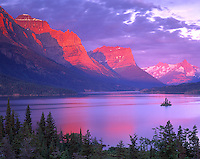 St. Mary Lake at Dawn, Glacier National Park, Montana  Rocky Mountains
