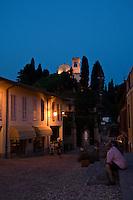 """La via Principale di Montevecchia. Sullo Sfondo il Santuario della Beata Vergine del Monte Carmelo...Historic center of Montevecchia. Background the sanctuary of """"Beata Vergine del Monte Carmelo"""""""