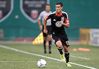WASHINGTON, DC - AUGUST 4, 2012:  Chris Pontius (13) of DC United scored the goal against the Columbus Crew during an MLS match at RFK Stadium in Washington DC on August 4. United won 1-0.