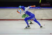 SCHAATSEN: HEERENVEEN: 25-10-2014, IJsstadion Thialf, Trainingswedstrijd schaatsen, Thijsje Oenema, ©foto Martin de Jong