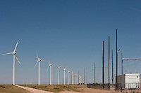 Wind turbines at The Caprock in east New Mexico.