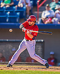 5 March 2013: Washington Nationals infielder Will Rhymes in action during a Spring Training game against the Houston Astros at Space Coast Stadium in Viera, Florida. The Nationals defeated the Astros 7-1 in Grapefruit League play. Mandatory Credit: Ed Wolfstein Photo *** RAW (NEF) Image File Available ***