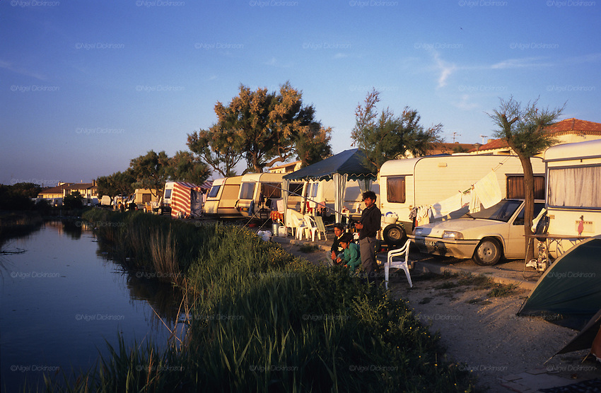 Gypsies fish in the river near the camping nigel dickinson - Office de tourisme sainte marie la mer ...