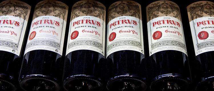Chateau Petrus fine wine vintage 2000, 2003, 2004, 2006, 2007 Grand Vin on sale in St Emilion, Bordeaux, France