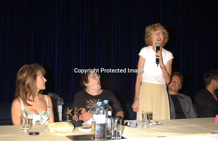 Susan Lucci , Carol  Dickson and Jill Larson                               ..at the All My Children Fan Club Luncheon on August 10, 2003 at the Marriott Marquis in New York.                           Photo by Robin Platzer, Twin Images