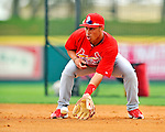 7 March 2012: St. Louis Cardinals infielder Kolten Wong warms up prior to a game against the Washington Nationals at Space Coast Stadium in Viera, Florida. The teams battled to a 3-3 tie in Grapefruit League Spring Training action. Mandatory Credit: Ed Wolfstein Photo