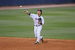 Ole Miss' Blake Newalu (6) throws to first for an out at Oxford-University Stadium in Oxford, Miss. on Friday, March 18, 2011. Ole Miss won 4-0. The Rebels are 15-4 on the season and 1-0 in SEC play.  (AP Photo/Oxford Eagle, Bruce Newman)