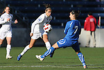 27 November 2010: Carli Lloyd (USA) (10) and Giulia Domenichetti (ITA) (7). The United States Women's National Team defeated the Italy Women's National Team 1-0 in the second leg of their 2011 FIFA Women's World Cup Qualifier playoff at Toyota Park in Bridgeview, Illinois. The U.S. won the series 2-0 on aggregate goals to advance.