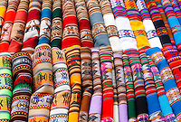 Indigenous textiles are for sale along the route between Cusco and Puno in La Raya, Peru, on May 13, 2008. La Raya is the highest point between Cusco and Peru at 14,234 feet (4338 meters) and is the beginning of the famous Sacred Valley.
