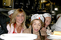 Pamela Bach Hasselhoff & Anne & Kirk Douglas at the LA Mission Thanksgivng Feeding of the Homeless in    Los Angeles, CA.November 26, 2008.©2008 Kathy Hutchins / Hutchins Photo....