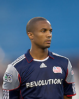 New England Revolution defender Darrius Barnes (25). The New England Revolution defeated Monarcas Morelia in SuperLiga 2010 group stage match, 1-0, at Gillette Stadium on July 20, 2010.