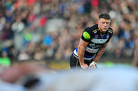 Rhys Priestland of Bath Rugby watches a scrum. Aviva Premiership match, between Bath Rugby and London Irish on March 5, 2016 at the Recreation Ground in Bath, England. Photo by: Patrick Khachfe / Onside Images