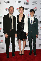 "Hollywood, CA - NOVEMBER 16: Mike Mills, Greta Gerwig, Lucas Jade Zumann, At AFI FEST 2016 Presented By Audi - A Tribute To Annette Bening And Gala Screening Of A24's ""20th Century Women"" At The TCL Chinese Theatre, California on November 16, 2016. Credit: Faye Sadou/MediaPunch"
