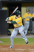 Siena Saints outfielder Dan Swain (22) during the season opening game against the Central Florida Knights at Jay Bergman Field on February 14, 2014 in Orlando, Florida.  UCF defeated Siena 8-1.  (Copyright Mike Janes Photography)