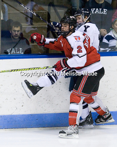 Erik Burgdoerfer (RPI - 2), Andrew Miller (Yale - 17) - The Rensselaer Polytechnic Institute (RPI) Engineers defeated the Yale University Bulldogs 4-0 on Saturday, January 30, 2010, at Ingalls Rink in New Haven, Connecticut.