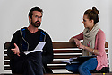 "© Jane Hobson. 12/04/2011. Kara Tointon and Rupert Everett in rehearsal for ""Pygmalion"", which opens at the Garrick Theatre, London. Picture credit should read: Jane Hobson"