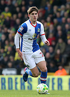 Blackburn Rovers' Connor Mahoney in action<br /> <br /> Photographer David Shipman/CameraSport<br /> <br /> The EFL Sky Bet Championship - Norwich City v Blackburn Rovers - Saturday 11th March 2017 - Carrow Road - Norwich<br /> <br /> World Copyright &copy; 2017 CameraSport. All rights reserved. 43 Linden Ave. Countesthorpe. Leicester. England. LE8 5PG - Tel: +44 (0) 116 277 4147 - admin@camerasport.com - www.camerasport.com