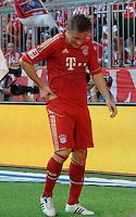 FUSSBALL   1. BUNDESLIGA  SAISON 2011/2012   3. Spieltag FC Bayern Muenchen - Hamburger SV           20.08.2011 Ivica Olic (FC Bayern Muenchen) an der Huefte verletzt