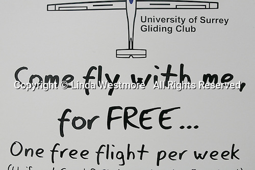 Free flight offer, Freshers' Fair introducing new students to university Clubs, University of Surrey.