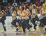 "Rebelettes dance at C.M. ""Tad"" Smith in Oxford, Miss. on Saturday, March 5, 2010. (AP Photo/Oxford Eagle, Bruce Newman)"