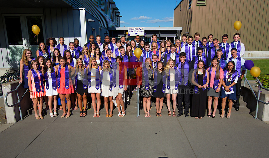 The graduation reception for seniors and graduating student-athletes at the University of Washington on June 14, 2013. (Photo by Scott Eklund /Red Box Pictures)