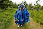 Maryann and Maureen pose for a picture in their parkas during a treasure hunt at the Caulfield/Mulryan family reunion at Ardenode Stud, County Kildare, Ireland on Sunday, June 23rd 2013. (Photo by Brian Garfinkel)