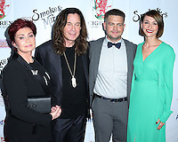 BEVERLY HILLS, CA, USA - SEPTEMBER 13: Sharon Osbourne, Ozzy Osbourne, Jack Osbourne and Lisa Stelly arrive at the Brent Shapiro Foundation For Alcohol And Drug Awareness' Annual 'Summer Spectacular Under The Stars' 2014 held at a Private Residence on September 13, 2014 in Beverly Hills, California, United States. (Photo by Xavier Collin/Celebrity Monitor)