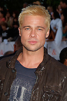 """Brad Pitt arriving at the """"Mr & Mrs Smith"""" Premiere in Westwood, CA 6/7/05."""