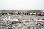 People from all across New Brunswick and Turtle Island draw a Line in the Sand at the End of the Energy East Pipeline to put a stop to reckless fossil fuel projects. On May 30, 2015, over 500 Canadian citizens and First Nations marched in Red Head, Saint John, at the End of the Line for the proposed Energy East pipeline. The people were protesting the proposed mega pipeline and the tank terminal that would destroy and the Red Head community and endanger the Bay of Fundy. If approved, TransCanada's Energy East pipeline would travel 4600km from Alberta to Saint John, New Brunswick, shipping 1.1 million barrels of crude oil and bitumen for export through the Bay of Fundy, a critical habit for Right whales and home to thousands of jobs in Tourism and Fishing.