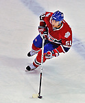 21 December 2008: Montreal Canadiens' defenseman Francis Bouillon in action during the first period against the Carolina Hurricanes at the Bell Centre in Montreal, Quebec, Canada. The Hurricanes defeated the Canadiens 3-2 in overtime. ***** Editorial Sales Only ***** Mandatory Photo Credit: Ed Wolfstein Photo