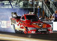 Jun 17, 2016; Bristol, TN, USA; NHRA funny car driver Chad Head during qualifying for the Thunder Valley Nationals at Bristol Dragway. Mandatory Credit: Mark J. Rebilas-USA TODAY Sports