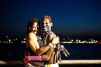 New York, USA. 28 June 2014. Men attend the gay pride parade 2014 in New York. Photo by Eduardo MunozAlvarez/VIEWpress