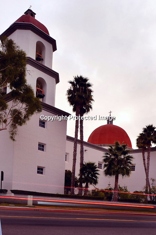 Stock photo of the Spanish Mission at San Juan Capistrano