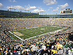 16 October 2011: A wide shot of the stadium bowl before the game. The Green Bay Packers defeated the Saint Louis Rams 24-3 at Lambeau Field in Green Bay, Wisconsin in an National Football League regular season game.