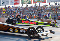 Sep 23, 2016; Madison, IL, USA; NHRA top fuel driver J.R. Todd during qualifying for the Midwest Nationals at Gateway Motorsports Park. Mandatory Credit: Mark J. Rebilas-USA TODAY Sports