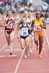 The College Women's Distance Medley Championship during the Penn Relays athletic meets on Thursday, April 26, 2012 in Philadelphia, PA.