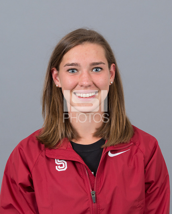 STANFORD, CA - SEPTEMBER 24, 2014--Clare Flanagan, with Stanford University Cross Country Team
