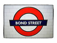Bond Street Underground - London UK - Artist Designed Custom Border