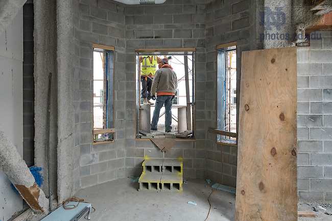 November 17, 2016; Nanovic Hall construction (Photo by Matt Cashore/University of Notre Dame)