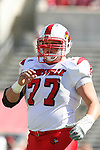 29 September 2007: Louisville's Eric Wood. The University of Louisville Cardinals defeated the North Carolina State University Wolfpack 29-10 at Carter-Finley Stadium in Raleigh, North Carolina in an NCAA College Football Division I game.