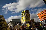 Thousands march to the Pentagon (40th anniversary of the 1967 march) in protest of the Iraq war. ..photo: Hector Emanuel