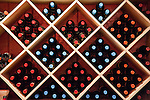 I was struck by the neat arrangement of bottles in a color pattern behind the tasting bar at Ingleside Plantation Winery.