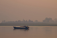 Sunrise on the Ayeyarwaddy River near Minguin Mandalay, Myanmar/Burma
