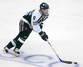 Chris Lawrence (Michigan State - Havertown, PA) carries the puck up ice. The Michigan State Spartans defeated the Boston College Eagles 3-1 (EN) to win the national championship in the final game of the 2007 Frozen Four at the Scottrade Center in St. Louis, Missouri on Saturday, April 7, 2007.