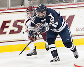 Steven Whitney (BC - 21), Jesse Root (Yale - 20) - The Boston College Eagles tied the visiting Yale University Bulldogs 3-3 on Friday, January 4, 2013, at Kelley Rink in Conte Forum in Chestnut Hill, Massachusetts.