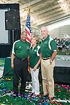 "Robert D. and Margaret ""Peggy"" M. Walter with Ohio University President Roderick McDavis at the Walter Fieldhouse dedication. Photo by Ben Siegel/ Ohio University"
